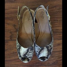Clarks Artisan Python Print Shoes Barely worn as pictured. Python print. Compare prices online these shoes are in great condition. Clarks Shoes