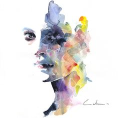 Agnes Cecile: original painting, signed and datedtechnical: watercolor and pensupport: watercolor paper (200g)size: 20 cm x 20 cm