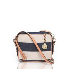CANVAS RUGBY STRIPE CROSSBODY
