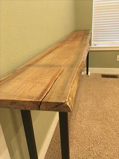 8 1/2' long live edge table