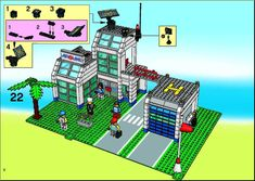 LEGO 10159 City Airport instructions displayed page by page to help you build this amazing LEGO City set Lego City Sets, Lego Sets, Lego City Fire Station, Lego City Airport, Lego Design, Lego Instructions, Lego Building, Planer, Lego Games