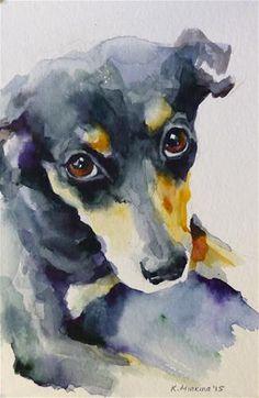 "Daily Paintworks - ""adopt127"" - Original Fine Art for Sale - © Katya Minkina"