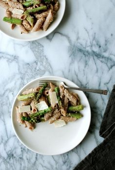 Asparagus and Whole Wheat Penne with Walnut Crema @Gurjot Dang