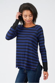 Summer & Sage - Striped Jersey Top