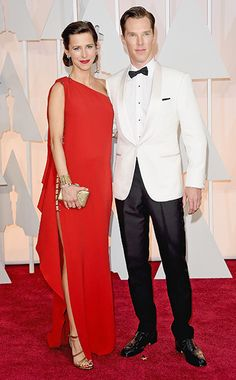 Oscars 2015 Red Carpet: Who Wore What | Benedict Cumberbatch and Sophie Hunter | EW.com