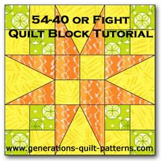 54-40 or Fight Quilt Block Tutorial Paired with shoo fly it makes a circular image as shown in Fons and Porters Love of Quilting TV program