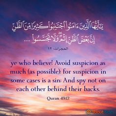 Gossip and rumours are destructive. Quran Quotes Love, Quran Quotes Inspirational, True Quotes, Islamic Phrases, Islamic Messages, Islamic Quotes, Islam Beliefs, Islam Quran, Beautiful Quran Verses
