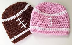 Twin Baby Hats Football Beanie Baby Girl Hat Baby by inamood, $28.00