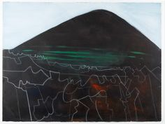 Lanzarote acrylic on paper Wilhelmina Barns Graham Rockwell Kent, Abstract Landscape, Interesting Stuff, Cornwall, Barns, New Art, Painting & Drawing, More Fun, Graham