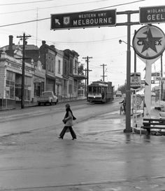 G'day all, this is the eastern edge of the Ballaarat commercial district, the corner of Victoria Street and Main Road which was the j. Melbourne Victoria, Victoria Australia, Great Pictures, Vintage Pictures, Australian People, Melbourne Suburbs, Light Rail, World Images, Local History