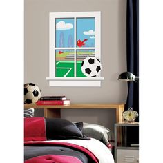Roommates Women/'s Soccer Sports Themed Futball Peel /& Stick Girls Wall Decals
