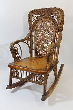 Vintage Wicker Rocking Chair Benefits Of Yoga For Seniors 211 Best Antique Images Furniture Cane Chairs C1900 Heywood Bros Amp Co Victorian Child S