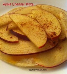 Think Cheddar-topped apple pie and you're in the mindset for this sweet-savory Healthy Gluten-Free Apple Cheddar Breakfast Pizza