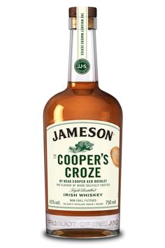 Jameson Cooper's Croze Irish Whiskey is a bold, non-chill filtered whiskey, maintaining a fine balance between vanilla sweetness, rich fruit flavors, floral and spice notes and oak. Cigars And Whiskey, Scotch Whiskey, Bourbon Whiskey, Whiskey Tour, Whiskey Label, Whiskey Girl, Whiskey Bottle, Irish Liquor, Irish Drinks