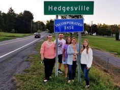Hedgesville, West Virginia, City Limit sign. Virginia City, West Virginia, City Limits