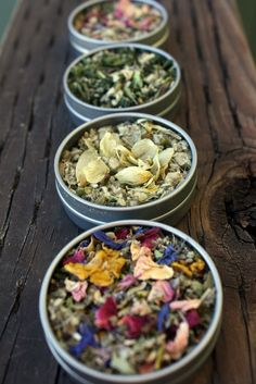 Herbal Smoking Blend Sampler - Pipe Tea  Herbals - By popular request, you can now try a special selection of Pipe Tea herbal smoking blends! Enjoy four of my favorite handcrafted organic blends each packaged in convenient pocket tins and a large cotton travel bag. This is the perfect way to try a variety of herbal smokes and have them on hand when the inspiration strikes!