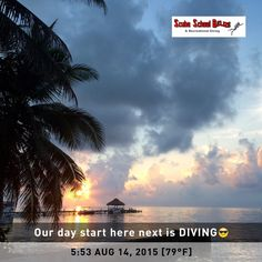 Good morning everyone from the beautiful country of BELIZE. #belize #padi #travel #scuba #scubaschoolbelize #scubadiving #underwater #scubadivelessons #sanpedro