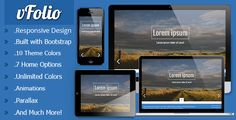 vFolio - One Page Responsive Portfolio Template   http://themeforest.net/item/vfolio-one-page-responsive-portfolio-template/7475081?ref=damiamio      Features vFolio is a One Page Responsive Portfolio Template designed for creatives and for personal or professional use. vFolio with its responsive design will work on any mobile device. There are over 7 home layouts which you can choose from! There are 10 theme colors, 12 pre-defined patterns and one background fullscreen image to set! 	…
