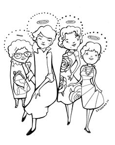 Golden Girls original drawing done by one of my favorite artists, my friend mamazshanna.
