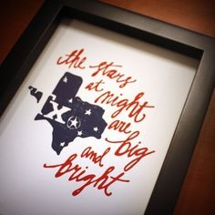 yes, yes they are. Texas Letterpress Art Print from http://www.etsy.com/listing/60911738/texas-letterpress-art-print