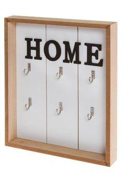 Cuier pentru chei Spirios MDF 30x24x4 cm Key Cabinet, Shabby Chic Stil, Key Box, Vintage Keys, Engineered Wood, Industrial Design, Bathroom Medicine Cabinet, Rattan, Locker Storage