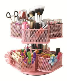 This Pink Makeup Carousel by Nifty Home Products is perfect! #zulilyfinds