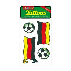 Tattoos - Fußball 3. Nass-Tattoos mit Fußball-Motiven.