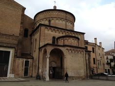 Padova, Piazza Duomo, Battistero #medieval #Romanesque #Padua Baptistry of the cathedral