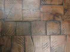 log end flooring. This type of flooring is made with end grain (with the wood grain oriented vertically). Log end or end grain flooring has been used for centuries in palaces, luxury homes and high traffic areas because of its beauty and durability. End …