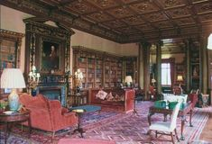 "So, I've become a bit obsessed with Downton Abbey, particularly the library. My husband says it's ""too expansive"" and while I'm inclined to agree, I still feel that books + comfy chairs + beautiful ceiling = what's not to love?"