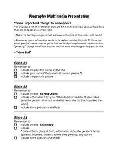 How do you create an outline for a project (essay, powerpoint, etc.) to turn into a teacher?