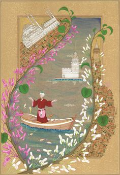 The Bosphorus - fabulous stylized map of the European and Asian sides of Istanbul