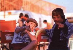 #carry_fisher #mark_hamill  return_of_the_jedi_carrie_fisher_and_mark_hamill_in_directors_chairs