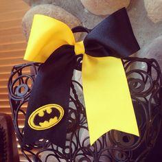 Batman Cheer Bow on Etsy, $7.50