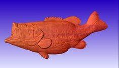 Bass Fish 3D Vector Model - CNC Vector Art