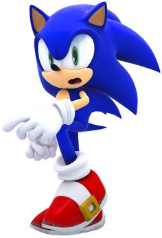 Sonic the Hedgehog. Haha, he looks so funny in this pose. :p