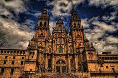 Cathedral of Santiago de Compostela Spain - #Tourist,#Attractions,#Spain