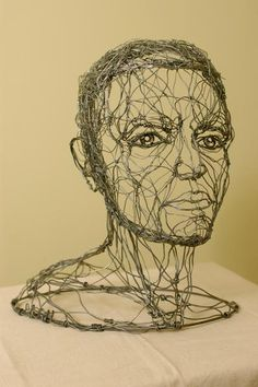 Bust | Hey Man Studio - Alexander Calder inspired wire sculpture