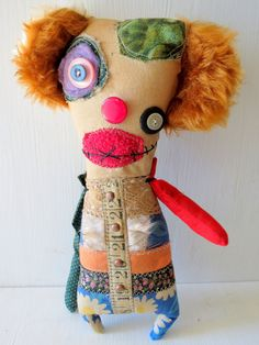 Grungy Handmade Monster Plush  Monster Doll by MysticHillsNgaroma, $55.00  https://www.etsy.com/listing/110288204/grungy-handmade-monster-plush-monster