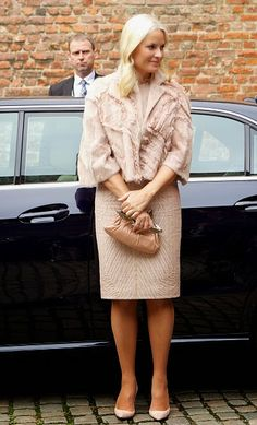 Crown Princess Mette-Marit of Norway attends a luncheon at Akershus Fortress on day two of the state visit from India on 14.10.2014 in Oslo, Norway.