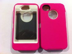 Hot Pink Outer Silicone Hybrid Cover White Hard Case Body Armor Defender for iPhone 4 4S 4G - Comparable to Otterbox Series OtterBox,http://www.amazon.com/dp/B00BBRDLI4/ref=cm_sw_r_pi_dp_M-UHsb1CF4FHMDDG