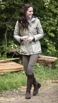 """The Duchess of Cambridge during a visit to a """"Farms for Children"""" farm on May 3, 2017 in Arlingham, Gloucestershire. The Duchess of Cambridge visited Farms for City Children to see their work giving young people from inner cities the chance to spend a week on a real working farm. Her Royal Highness joined a school group of pupils and teachers as they mucked in around the farm, and met childrens author Michael Morpurgo and his wife Clare to learn more about the organisation they founded in…"""