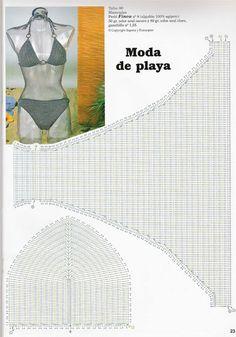crochet bikini bra pattern diagram