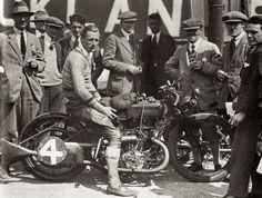 Joe Wright and his Zenith JAP at Brooklands.