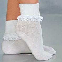 I loved wearing my little lace socks