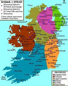 Map of Ancient Ireland World Map Europe, Ireland Map, County Cork Ireland, Irish Roots, Irish Blessing, Republic Of Ireland, Northern Ireland, Northern Irish, Historical Maps
