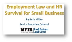 Employment Law and HR Survival Guide for Small Business