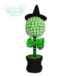 Green Witch Lollipop Topiary, Halloween, Candy Buffet, Centerpiece, Witch, Edible, Lollipops, Candy, Wizard of Oz, Wicked Witch
