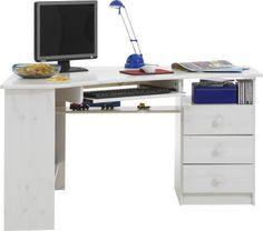 Harmonia Rohový psací stůl Kent - bílá 7 x 133 x 95cm