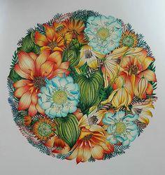 WEBSTA @ oscal_love - #컬러링북 #aultcoloringbooks #colouring #Coloringbook #floribunda#floribundacoloringbook#@leiladuly